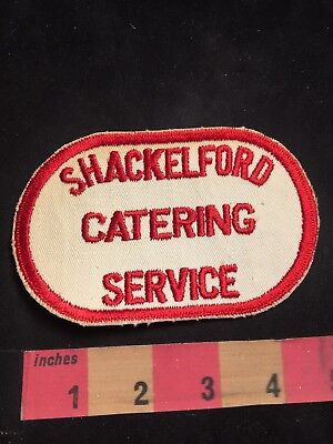 Vintage SHACKELFORD CATERING SERVICE Advertising Patch 80NC