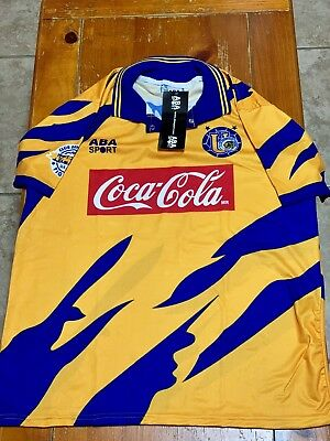 TIGRES HOME SOCCER JERSEY ABA SPORT 1994 SIZE XL image