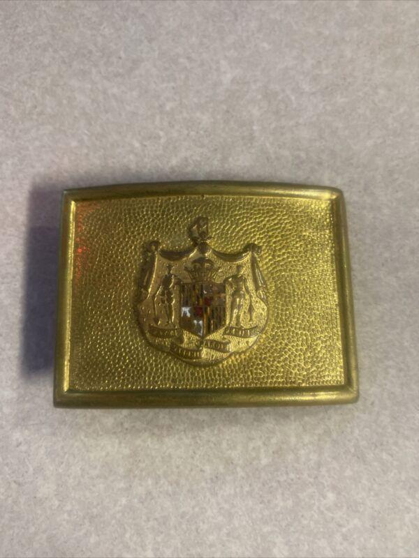 Maryland Police Belt Buckle Vintage