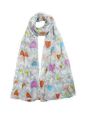 (Heart Scarf Womens Sketch Hearts Love Printed Fashion Ladies Wrap Scarves Sarong)