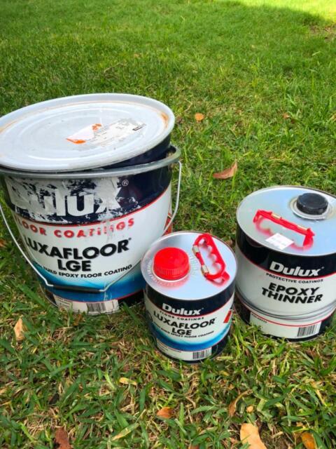 Luxafloor Lge epoxy floor coating with thinners and hardeners