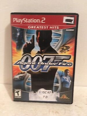James Bond 007 Agent Under Fire PlayStation 2 COMPLETE FREE SHIPPING RED LABEL