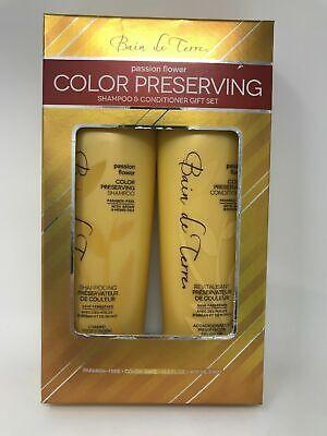 Bain de Terre Passion Flower Color Preserving Shampoo + Conditioner Duo 13.5 Oz