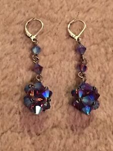 House of Moda Sparkly Blue / Purple Earrings