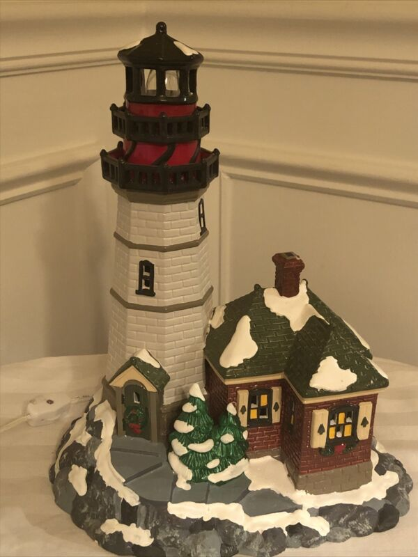 Dept 56 The Original Snow Village  Christmas Cove Lighthouse 1995 Preowned