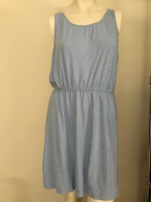 H&M Size Large Periwinkle Comfortable Stretch Tank Dress