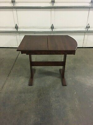 RV Hide 2 Leaf Dinette Table Hardwood Stained Cherry 26 x 56 with 2 leafs