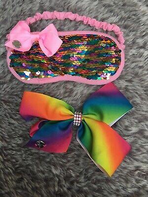 jojo siwa Rainbow Bow And Rainbow Sequin Sleep Mask
