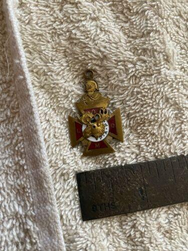 Antique Vintage LOOM Loyal Order of Moose  Pendant PAP