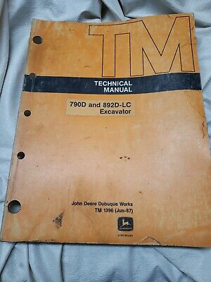 John Deere 790d And 892d-lc Excavator Technical Manual