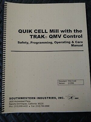Southwestern Industries Quik Cell With Qmv Control Programming Manual
