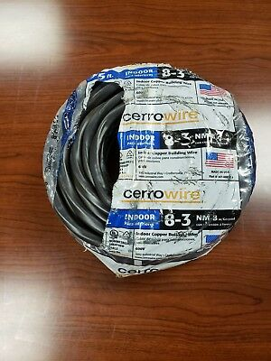 Cerrowire Nm-b Wire 75 Ft. 83 High Quality Good For Double Oven Up To 45 Amps