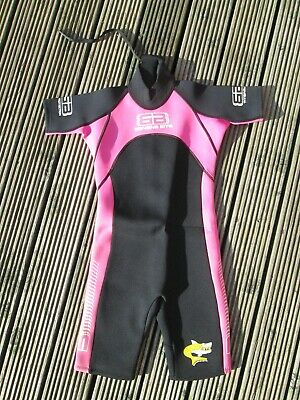 BANANA BITE Girls Surf Water Sports Shortie Wetsuit  Age 11-12 Years/Size 7, used for sale  Shipping to Nigeria