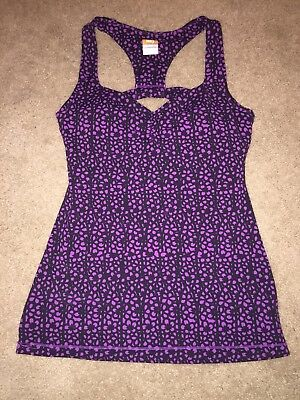 Lucy Activewear Flowered T Back Tank Size Small (Excellent)