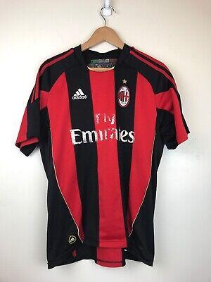 Ac Milan Soccer Shirts - AC Milan 2010-2011 Home Soccer Jersey Shirt Fly Emirates Adidas M N5