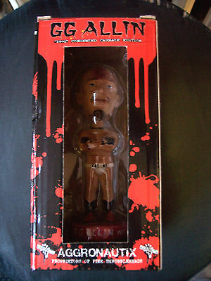 GG ALLIN - AGGRONAUTIX ORIGINAL NUMBERED BOBBLEHEAD / NODDER IN BOX LOW NUMBER!