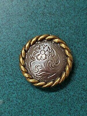 """Lot de 6 Conchos Argent Antique Pico Berry Western Rodeo Leather Craft 1 1//2/"""""""