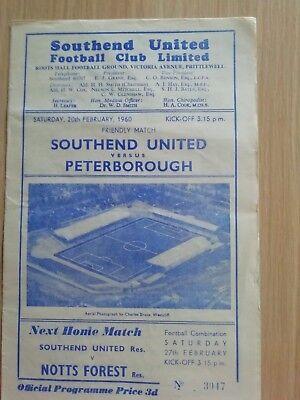 Southend United v Peterborough United 20/2/60