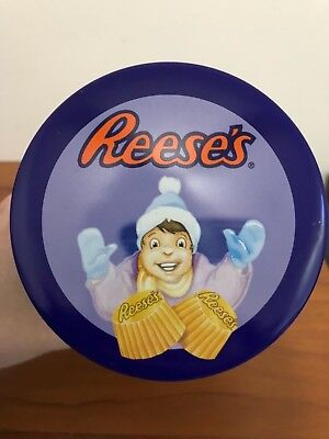Vintage 1996 Reeses Peanut Butter Cup Metal Tin Container Holiday Classic #9