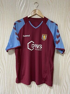 ASTON VILLA 2005 2006 HOME FOOTBALL SHIRT SOCCER JERSEY HUMMEL image