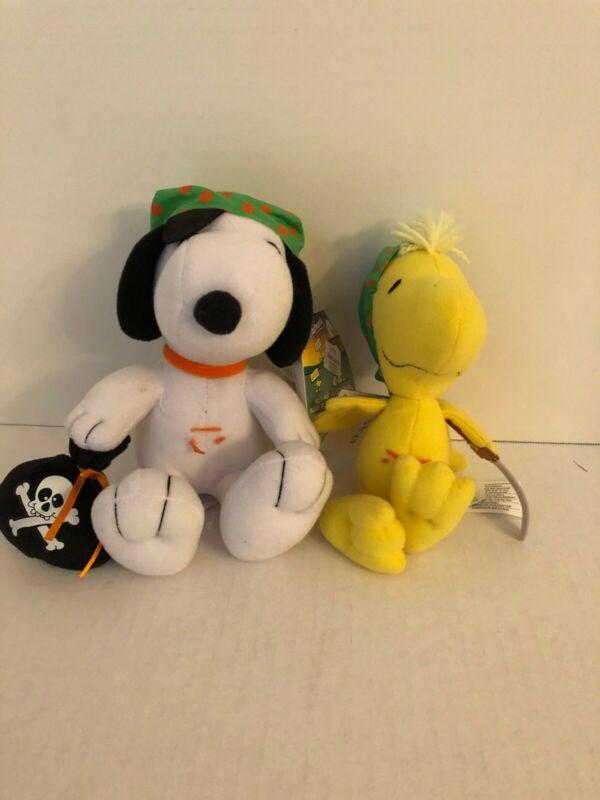 Snoopy Woodstock Halloween Pirate Plush