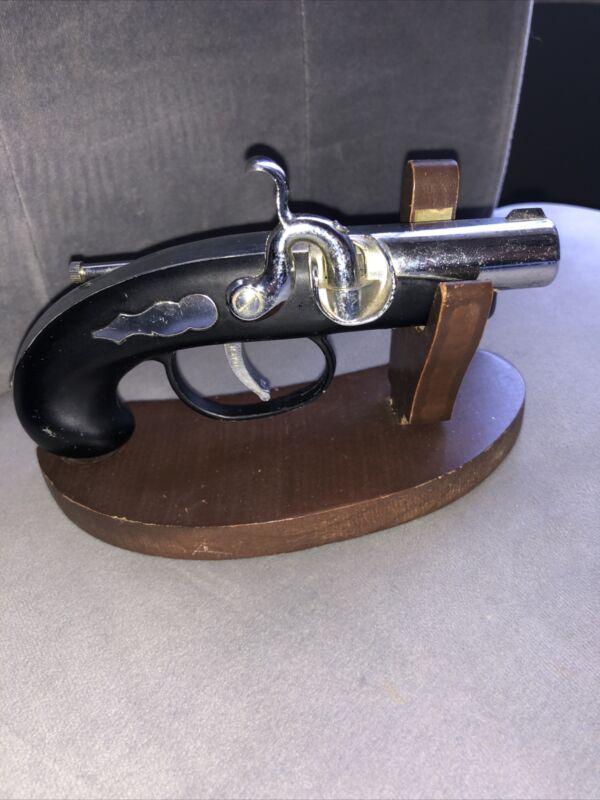 VINTAGE PIRATE PISTOL GUN FLINT LOCK CIGARETTE LIGHTER MADE IN JAPAN