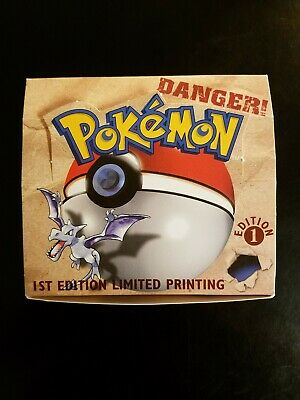 1st Edition Fossil Pokemon Booster Box *EMPTY NO CARD PACKS Original Generation