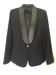 Women's tuxedo leather trim black Petersham Marrickville Area Preview