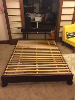 Futon Queen Bed Frame and Bedside table