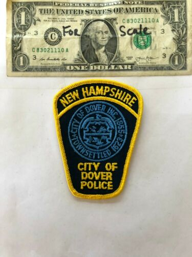 Dover New Hampshire Police Patch (City of) un-sewn in mint shape