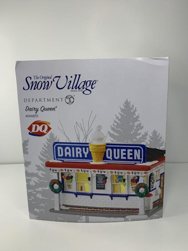 "NEW Department 56 Snow Village ""DAIRY QUEEN STORE"" Memory Lane Lit Bldg 4044855"