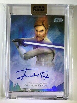 "2018 Star Wars Stellar ""James Arnold Taylor Obi-Wan Kenobi"" Autograph Card 14/40"
