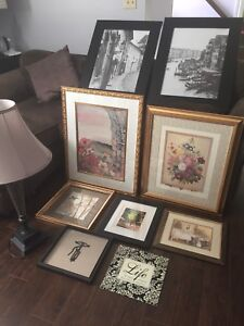 Collection of Pictures Plus Lamp