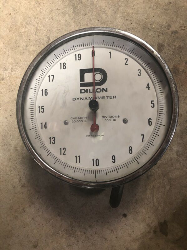 "Dillon 10"" Dial Dynamometer, 20000 lbs X 100 lbs Divisions Previously Owned Used"
