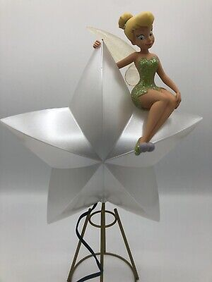 Disney Store Light Up Tinker Bell Tree Topper Christmas Damaged Wing See Details