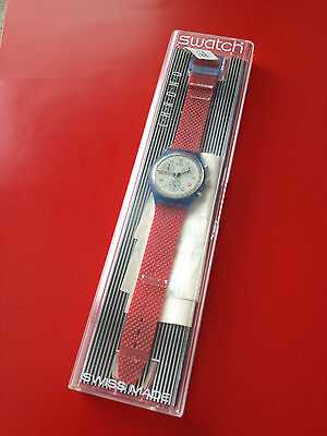 1992 Swatch Watch Classic Chronograph JFK NEW IN BOX SCN103 Chrono