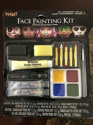 Spirit Face Painting Kit Great for Halloween, Carnival, Stage Makeup or Fun NEW