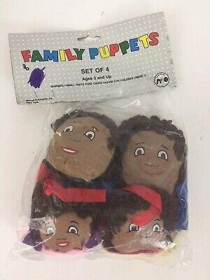 Marvel Education Family Hand Puppets African-American Ethnicity Set Pretend Play ()