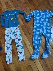 Pyjamas 3t/3ans garçon Dinosaure/monstre/Batman