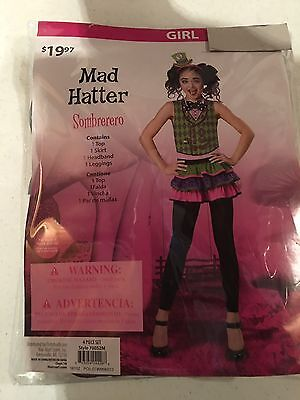 Halloween Costume Girl's Mad Hatter Medium or - Mad Halloween