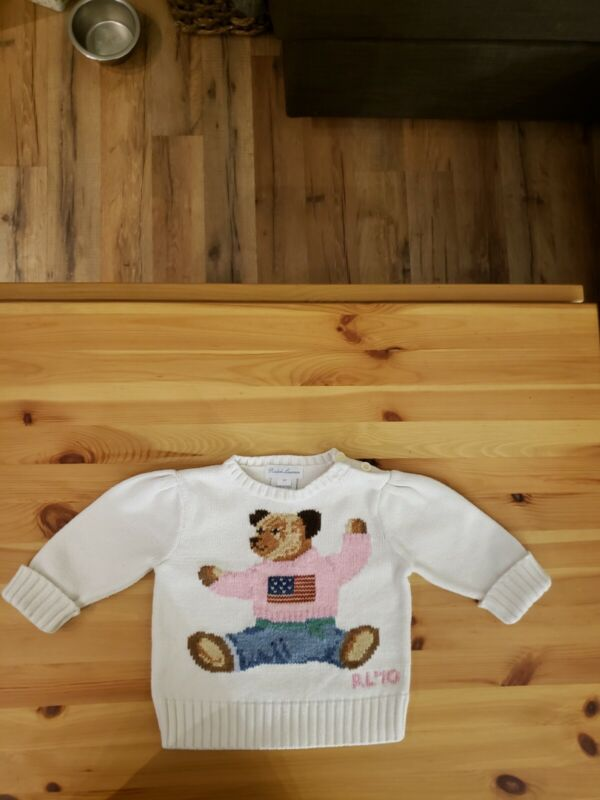 Polo Ralph Lauren Infant 6 Months Teddy Bear USED