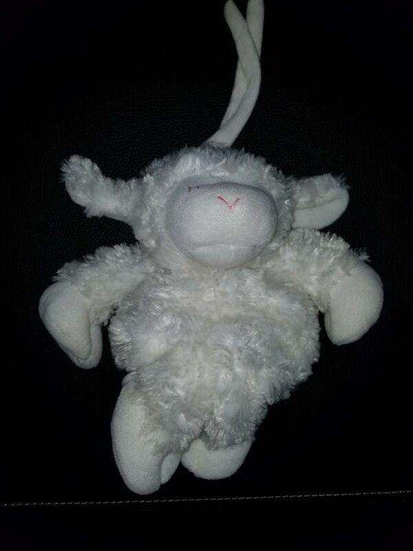 GUND BABY WINKY Lamb Musical Plush Plays Brahms Lullaby Hanging Crib Toy t2