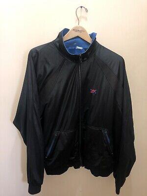 Vtg 80's Nike Windbreaker Jacket John McEnroe Tennis Checkered Blue Tag Sz Xl