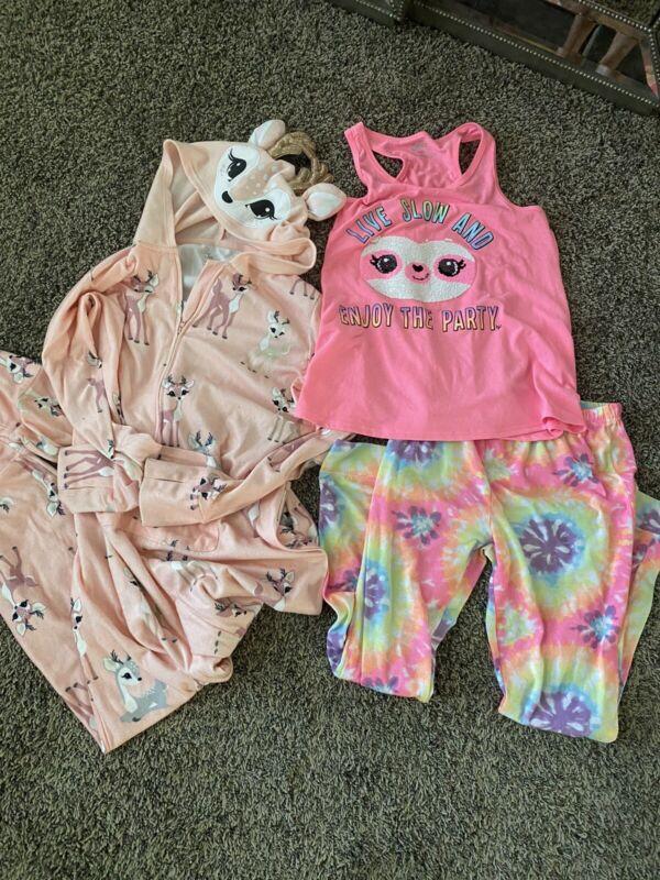 girls justice pajamas size 12 2 Pairs