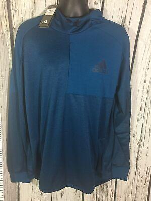 Men's Adidas Hoodie Sweater Blue 3XL 4XL XLT New
