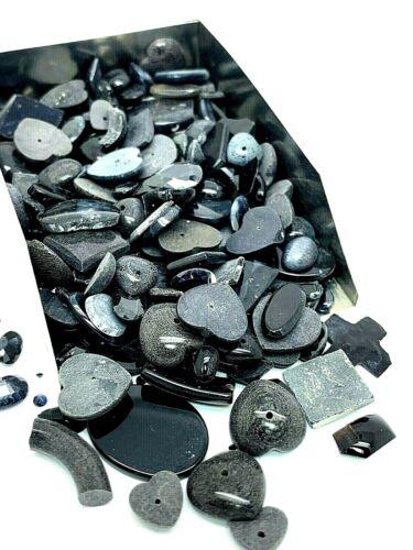 Lot of Black Onyx Gemstone Assorted Loose Gems 350ctw Mix Scrap Jewelry Making