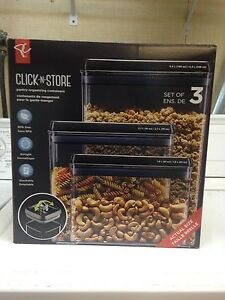 PC Click N Store Pantry Organizing Containers