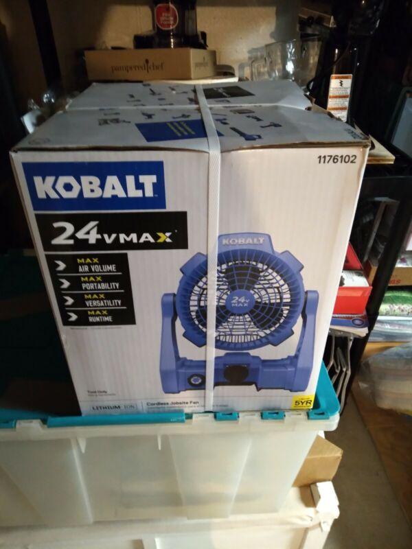 BRAND NEW Kobalt 24 V MAX 7-in 3-Speed Indoor/Outdoor  Stand Fan