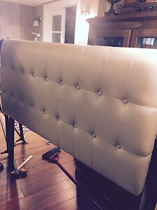 Double Headboard and Bed Frame