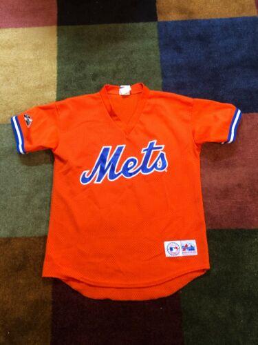 New York Mets Orange Majestic Baseball Shirt Kids XL